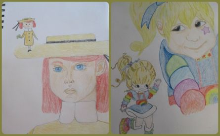 WfM07.15 Drawings Maddie and Rainbow